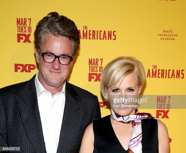 Television hosts Joe Scarborough and Mika Brzezinski attend 'The Americans' Season 5 Premiere at DGA Theater on February 25 2017 in New York City
