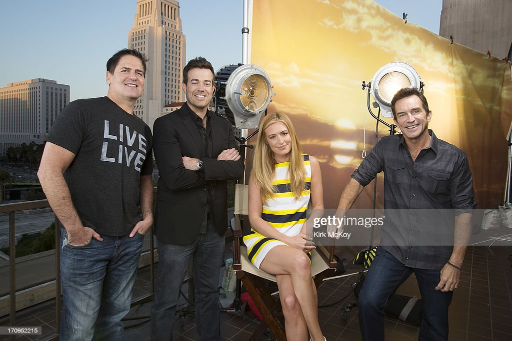 Television hosts <a gi-track='captionPersonalityLinkClicked' href=/galleries/search?phrase=Mark+Cuban&family=editorial&specificpeople=203295 ng-click='$event.stopPropagation()'>Mark Cuban</a>, <a gi-track='captionPersonalityLinkClicked' href=/galleries/search?phrase=Cat+Deeley&family=editorial&specificpeople=202554 ng-click='$event.stopPropagation()'>Cat Deeley</a>, <a gi-track='captionPersonalityLinkClicked' href=/galleries/search?phrase=Carson+Daly&family=editorial&specificpeople=202941 ng-click='$event.stopPropagation()'>Carson Daly</a>, <a gi-track='captionPersonalityLinkClicked' href=/galleries/search?phrase=Jeff+Probst&family=editorial&specificpeople=207025 ng-click='$event.stopPropagation()'>Jeff Probst</a> are photographed for Los Angeles Times on April 30, 2013 in Los Angeles, California. PUBLISHED IMAGE.
