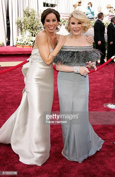 Television hosts Melissa Rivers and Joan Rivers arrive to the 78th Annual Academy Awards at the Kodak Theatre on March 5 2006 in Hollywood California