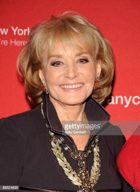 Television journalist and event honoree presenter Barbara Walters attends the 39th annual National Salute to Black Achievers in Industry Awards at...