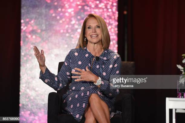 Television Journalist and News Anchor Katie Couric speaks onstage during the WICT Leadership Conference at Marriott Marquis Times Square on September...