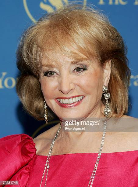 Television journalist Barabra Walters attends The New York Public Library's Annual Library Lions Gala at The New York Public Library November 13 2006...