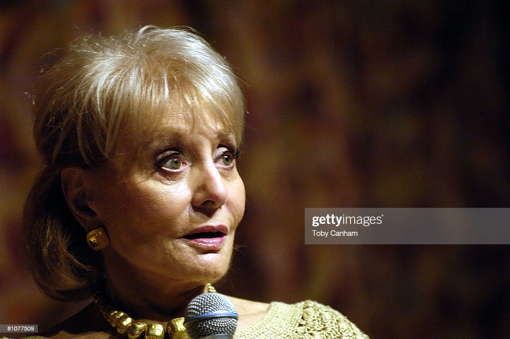 Television journalist <a gi-track='captionPersonalityLinkClicked' href=/galleries/search?phrase=Barbara+Walters&family=editorial&specificpeople=201871 ng-click='$event.stopPropagation()'>Barbara Walters</a> participates in Town Hall Los Angeles' Writers Bloc Q&A at her book signing for 'Audition: A Memoir' held at the Writers Guild Theater May 13, 2008 in Beverly Hills, California.