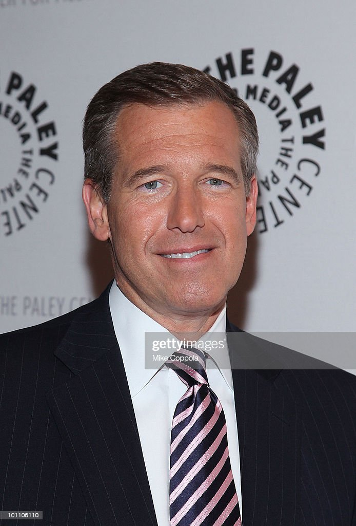 Television journalist Brian Williams attends Late Night With Jimmy Fallon & Brian Williams at The Paley Center for Media on May 27, 2010 in New York City.
