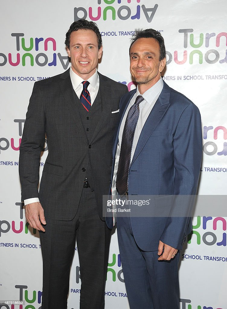 Television journalist <a gi-track='captionPersonalityLinkClicked' href=/galleries/search?phrase=Chris+Cuomo&family=editorial&specificpeople=649814 ng-click='$event.stopPropagation()'>Chris Cuomo</a>(L) and <a gi-track='captionPersonalityLinkClicked' href=/galleries/search?phrase=Hank+Azaria&family=editorial&specificpeople=204150 ng-click='$event.stopPropagation()'>Hank Azaria</a> attend the Turnaround For Children's 5th Annual Impact Awards Dinner at Cipriani 42nd Street on April 30, 2014 in New York City.