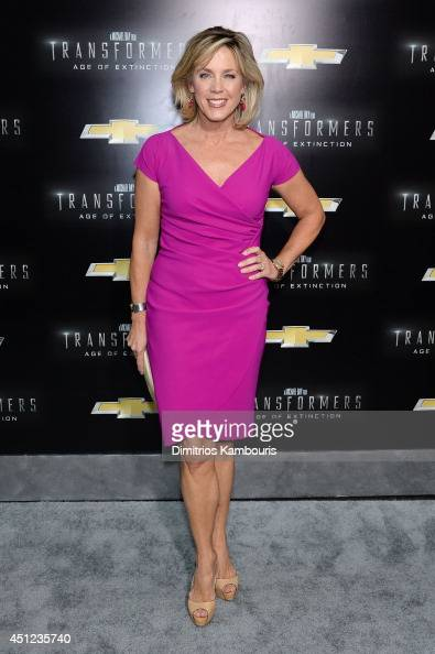 Television journalist Deborah Norville attends the New York Premiere of 'Transformers Age Of Extinction' at the Ziegfeld Theatre on June 25 2014 in...