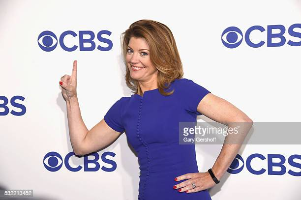 Television journalist Norah O'Donnell attends the 2016 CBS Upfront at Oak Room on May 18 2016 in New York City