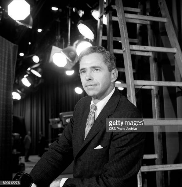 Television Network president James T Aubrey poses for a portrait behind the scenes at CBS Television City Hollywood CA Image dated September 21 1961