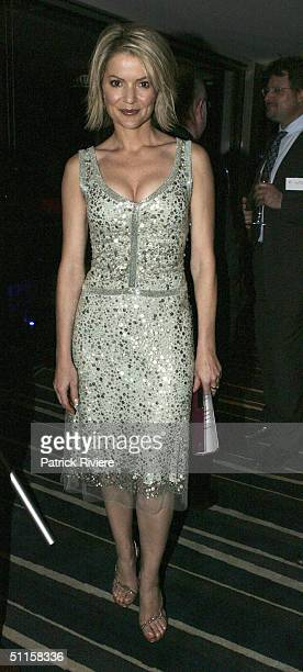 Television news reader Sandra Sully during the launch of the InterContinental Hotel refurbishing cocktail party on August 10 2004 in Sydney Australia