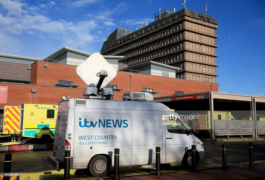 A television news satellite truck is seen outside the Gloucestershire Royal Hospital on January 17, 2014 in Gloucester, England. The Queens granddaughter and Olympic silver-medalist Zara Phillips, who is married to former England rugby player Mike Tindall, gave birth to a baby girl - whose name is yet to be confirmed and weighed 7lbs 12oz - at the NHS hospital in the early hours of this morning.