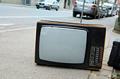 television on the street