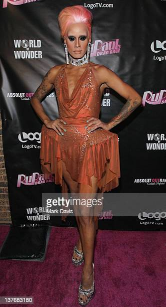 Television participant Raja attends 'RuPaul's Drag Race' season 4 premiere party at Eleven Night Club on January 24 2012 in West Hollywood California