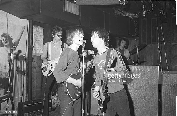 Television perform live at CBGB's in New York in 1975 LR Richard Hell Tom Verlaine Richard Lloyd Billy Ficca