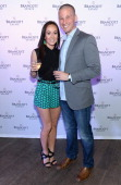 Television personalities Ashley Hebert and JP Rosenbaum attend Ashley Hebert and JP Rosenbaum Celebrate Brancott Estate Chill Houron at Catch Roof on...