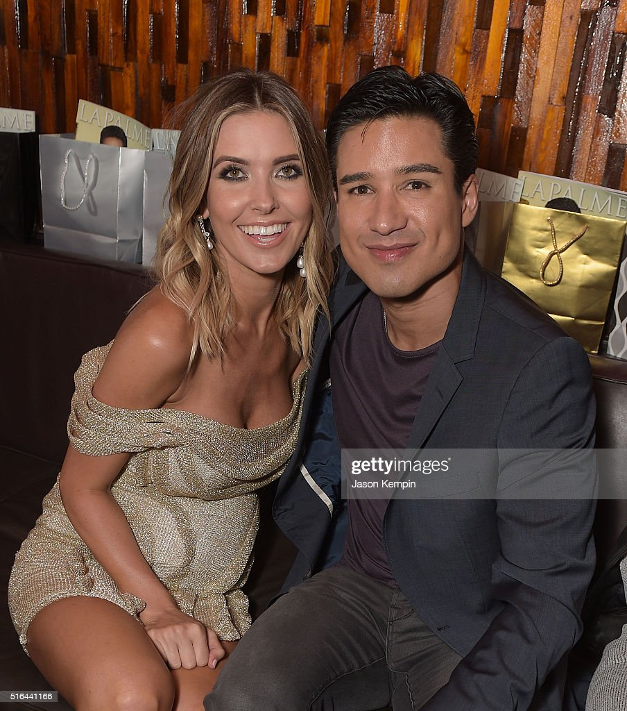 Television personalities Audrina Patridge and Mario Lopez attend the LAPALME Magazine Spring Affair at The Room on March 18, 2016 in Los Angeles, California.