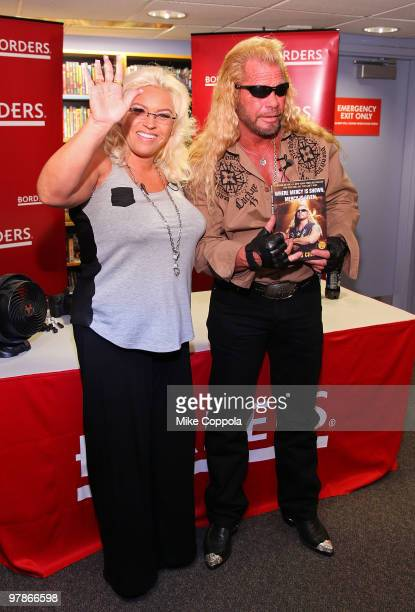 Television personalities Beth Chapman and husband Duane 'Dog' Chapman promote 'When Mercy Is Shown Mercy Is Given' at Borders Wall Street on March 19...