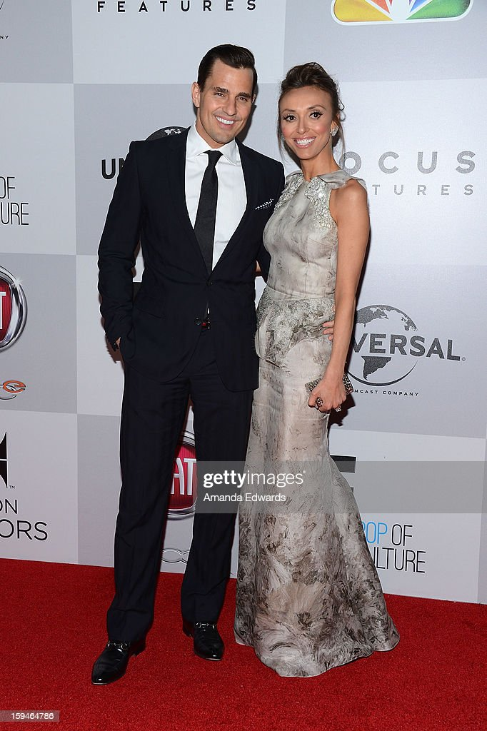 Television personalities Bill Rancic (L) and Giuliana Rancic arrive at the NBC Universal's 70th Golden Globes After Party at The Beverly Hilton Hotel on January 13, 2013 in Beverly Hills, California.
