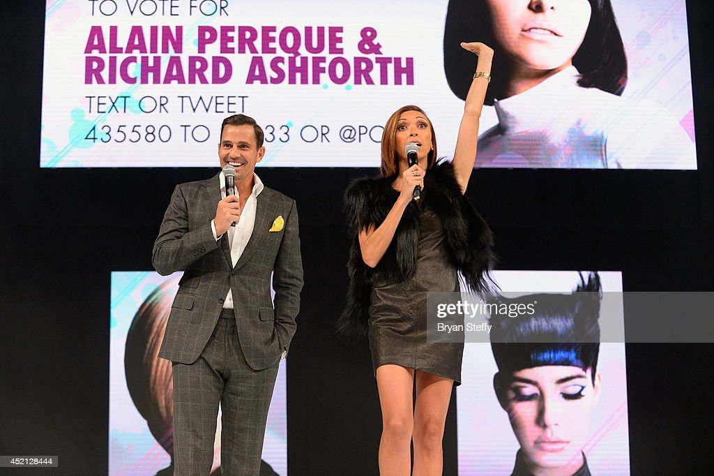 Television personalities Bill Rancic and his wife Giuliana Rancic speak to the attendees as they host The North American Hairstyling Awards 25th...