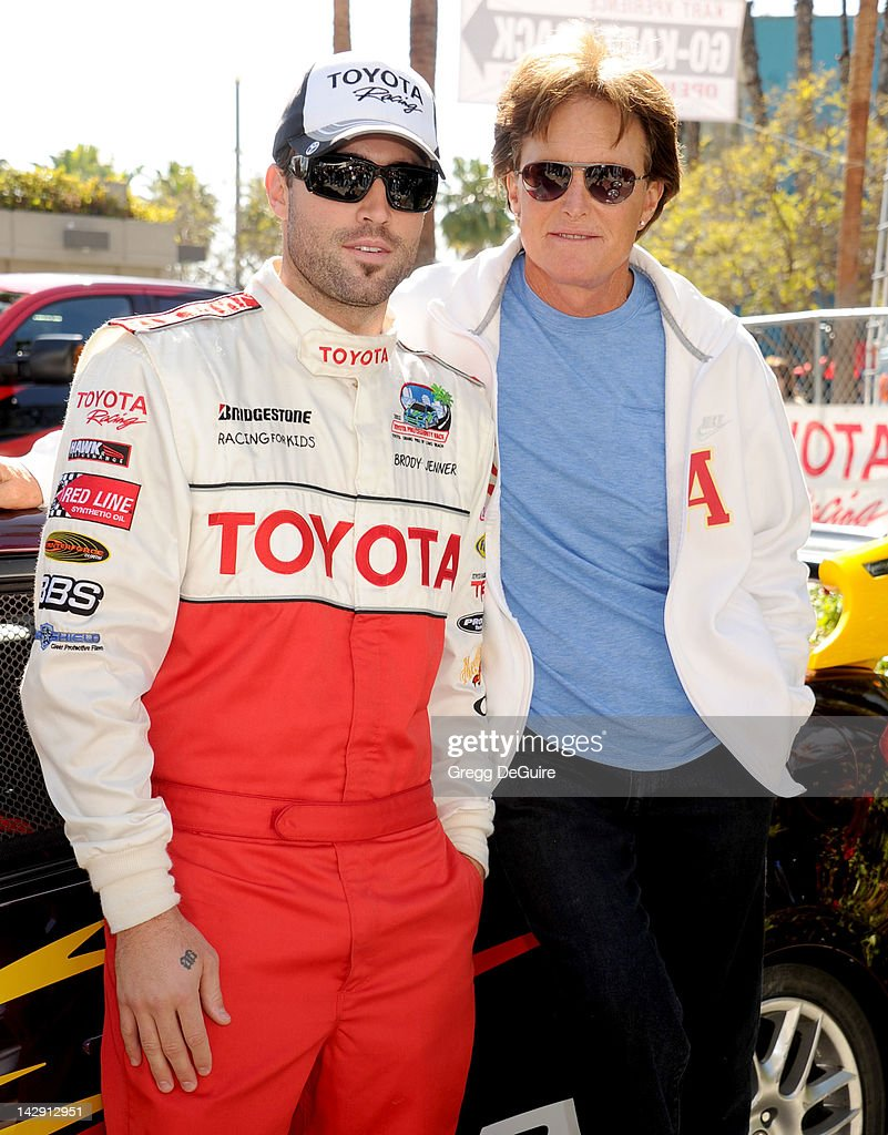 Television personalities Brody Jenner and Bruce Jenner at the 36th Annual 2012 Toyota Pro/Celebrity Race on April 14, 2012 in Long Beach, California.