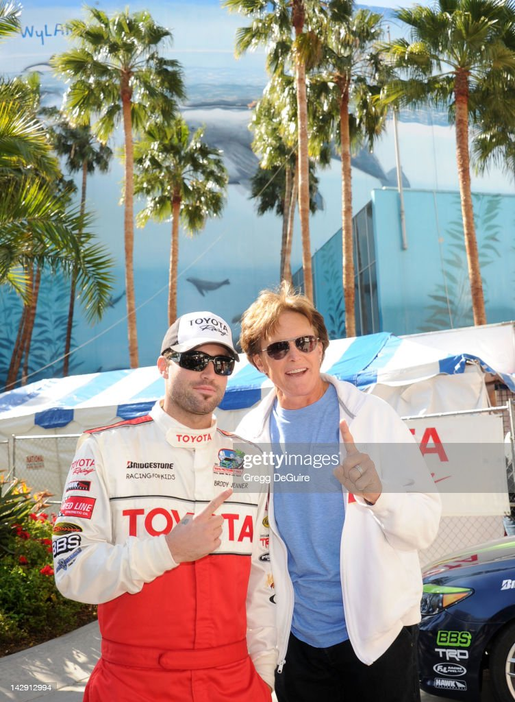 Television personalities <a gi-track='captionPersonalityLinkClicked' href=/galleries/search?phrase=Brody+Jenner&family=editorial&specificpeople=689564 ng-click='$event.stopPropagation()'>Brody Jenner</a> and Bruce Jenner at the 36th Annual 2012 Toyota Pro/Celebrity Race on April 14, 2012 in Long Beach, California.