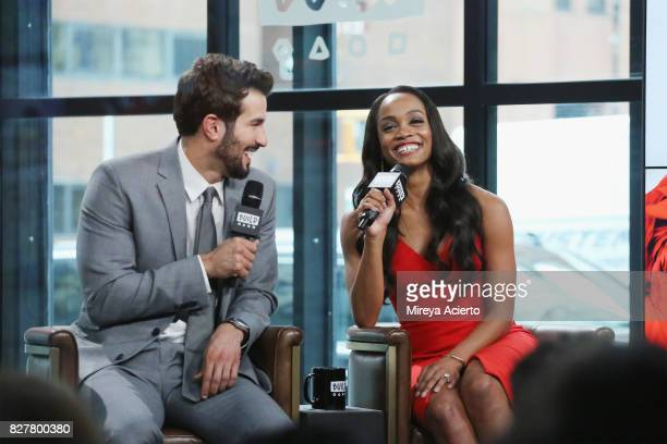 Television personalities Bryan Abasolo and Rachel Lindsay visit Build to discuss her show 'The Bachelorette' at Build Studio on August 8 2017 in New...