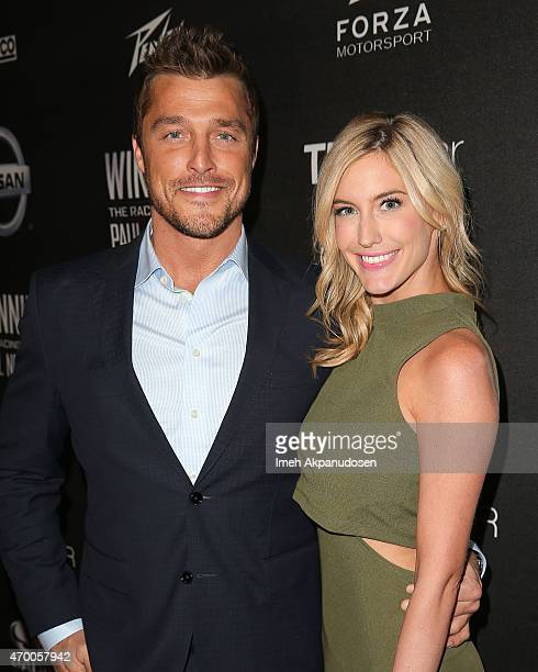 Television personalities Chris Soules and Whitney Bischoff attend the charity screening of 'WINNING The Racing Life Of Paul Newman' at the El Capitan...