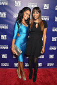 Television personalities Claudia Jordan and Cynthia Bailey attend WE tv's 'Match Made In Heaven' Preview Screening at the TWELVE Hotel Atlantic...