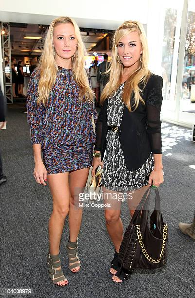 Television personalities Dabney Mercer and Tinsley Mortimer are seen around Lincoln Center during MercedesBenz Fashion Week on September 11 2010 in...