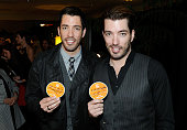 Television personalities Drew Scott and Jonathan Scott attend the Backstage Creations Celebrity Retreat at the American Country Awards 2013 at the...