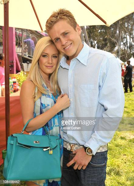 Television personalities Heidi Montag and Spencer Pratt at the A Time for Heroes Celebrity Carnival Sponsored by Disney benefiting the Elizabeth...