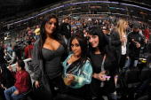 Television personalities Jenni 'JWoww' Farley Nicole 'Snooki' Polizzi and Angelina 'Jolie' Pivarnick from the television show 'Jersey Shore' attend...