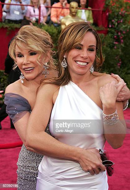 Television personalities Joan Rivers and Melissa Rivers on the red carpet at the 77th Annual Academy Awards at the Kodak Theater on February 27 2005...
