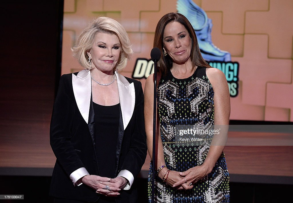 Television personalities <a gi-track='captionPersonalityLinkClicked' href=/galleries/search?phrase=Joan+Rivers&family=editorial&specificpeople=159403 ng-click='$event.stopPropagation()'>Joan Rivers</a> and <a gi-track='captionPersonalityLinkClicked' href=/galleries/search?phrase=Melissa+Rivers&family=editorial&specificpeople=204230 ng-click='$event.stopPropagation()'>Melissa Rivers</a> speak onstage at the DoSomething.org and VH1's 2013 Do Something Awards at Avalon on July 31, 2013 in Hollywood, California.