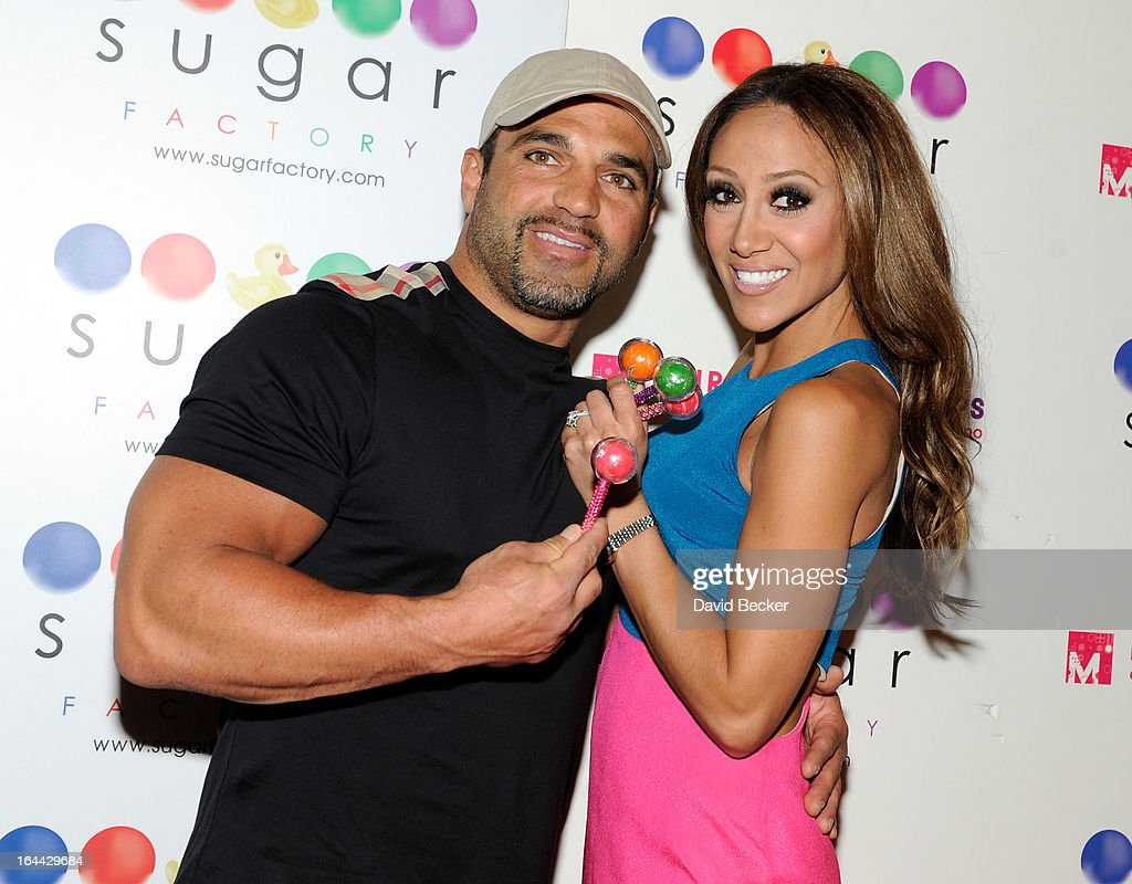 Television personalities Joe Gorga (L) and <a gi-track='captionPersonalityLinkClicked' href=/galleries/search?phrase=Melissa+Gorga&family=editorial&specificpeople=7306775 ng-click='$event.stopPropagation()'>Melissa Gorga</a> arrives at the Sugar Factory at the Miracle Mile Shops at Planet Hollywood Resort & Casino for an autograph signing appearance on March 23, 2013 in Las Vegas, Nevada.