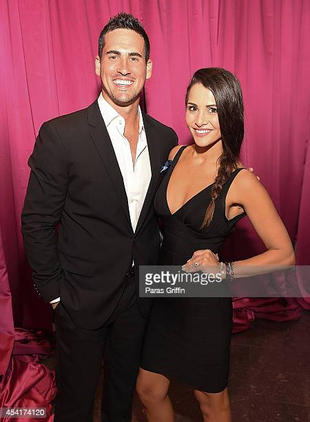 Television personalities Josh Murray and Andi Dorfman aattends the 2014 Jeffrey Fashions Cares at American Cancer Society Center on August 25 2014 in...