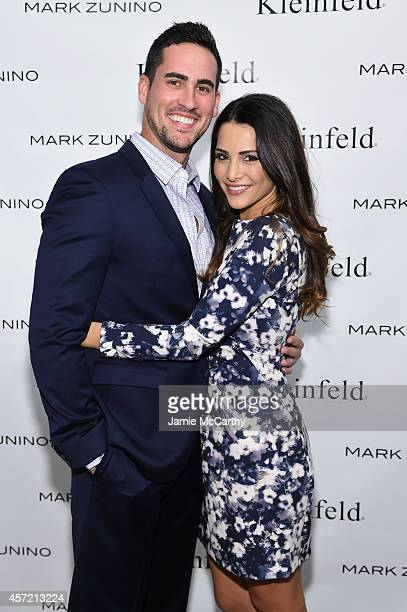 Television personalities Josh Murray and Andi Dorfman attend front row at The Mark Zunino For Kleinfeld 2015 Runway Show at Kleinfeld on October 14...