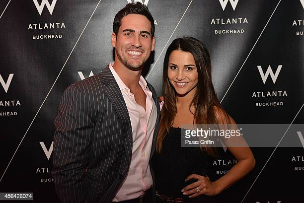 Television personalities Josh Murray and Andi Dorfman attend the 5th Annual Cure on the Catwalk at W Atlanta Buckhead on September 30 2014 in Atlanta...