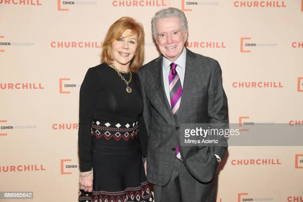 Television personalities Joy Philbin and Regis Philbin attend the 'Churchill' New York premiere at the Whitby Hotel on May 22 2017 in New York City