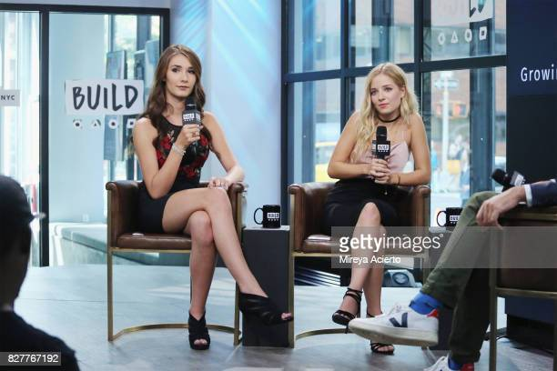 Television personalities Juliet Evancho and Jackie Evancho visit Build to discuss their show 'Growing Up Evancho' at Build Studio on August 8 2017 in...