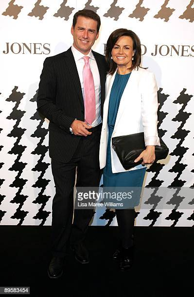 Television personalities Karl Stefanovic and Lisa Wilkinson arrive at the David Jones Spring/Summer 2009 Collection Launch themed 'A Great Southern...