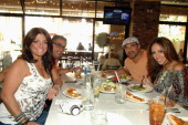 Television personalities Kathy Wakile Rich Wakile Joe Gorga and Melissa Gorga appear at Meatball Spot on March 22 2013 in Las Vegas Nevada