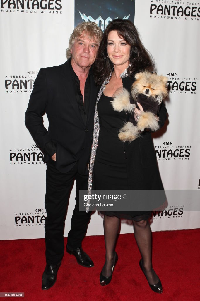 Television personalities Ken Todd (L) and Lisa Vanderpump (R) arrive at the Opening Night of 'Rock of Ages' at the Pantages Theatre on February 15, 2011 in Hollywood, California.