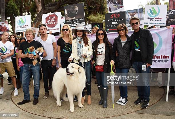 Television personalities Ken Todd James Kennedy Kathryn Edwards Lisa Vanderpump Kyle Richards Lisa Rinna and Harry Hamlin attend the StopYulinForever...