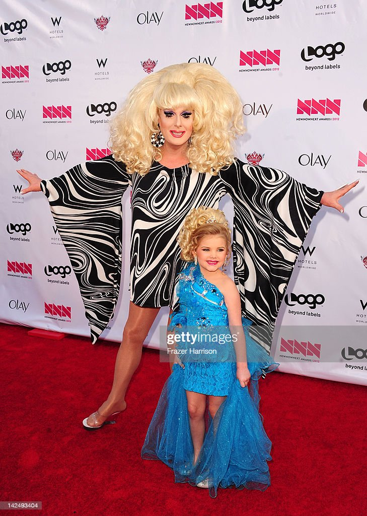 Television Personalities <a gi-track='captionPersonalityLinkClicked' href=/galleries/search?phrase=Lady+Bunny&family=editorial&specificpeople=830387 ng-click='$event.stopPropagation()'>Lady Bunny</a> and Eden Wood attends Logo's 'NewNowNext Awards' 2012 at Avalon on April 5, 2012 in Hollywood, California.