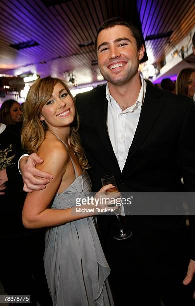 Television personalities Lauren Conrad and Brody Jenner attend 'The Hills' Season Finale Party at Area December 10 2007 in Hollywood California