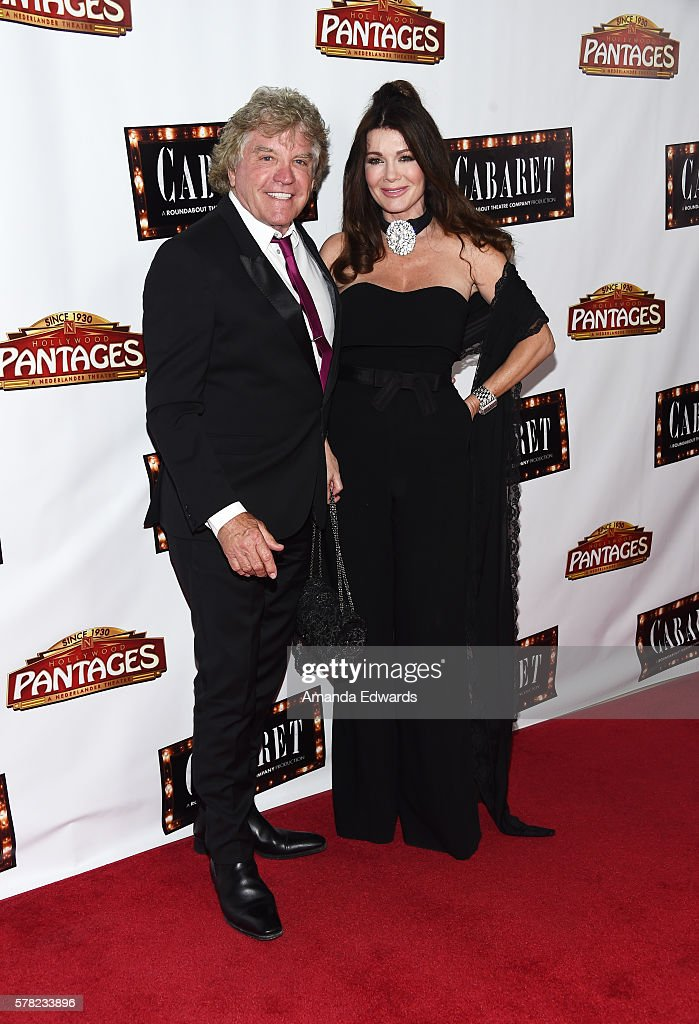 Television personalities Lisa Vanderpump (R) and Ken Todd arrive at the opening of 'Cabaret' at the Hollywood Pantages Theatre on July 20, 2016 in Hollywood, California.
