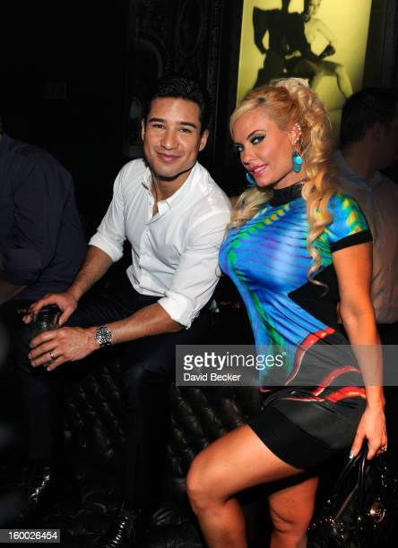 Television personalities Mario Lopez and Nicole 'Coco' Austin attend FilmDistrict's 'Parker' premiere after party hosted by Planet Hollywood Resort...