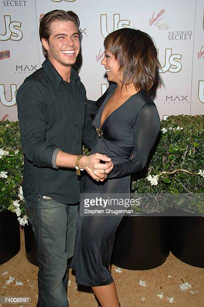 Television personalities Matthew Lawrence and Cheryl Burke attend the Us Hollywood 2007 Party at Sugar on April 26 2007 in Hollywood California
