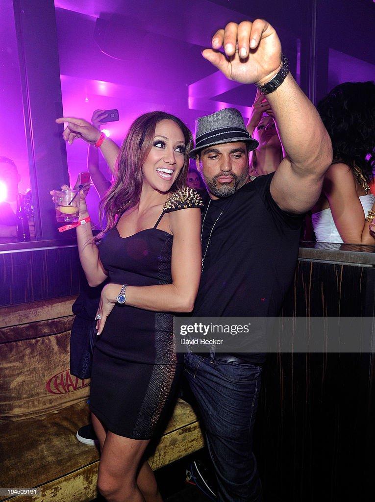 Television personalities Melissa Gorga (L) and Joe Gorga appear at Haze Nightclub at the Aria Resort & Casino at CityCenter on March 23, 2013 in Las Vegas, Nevada.