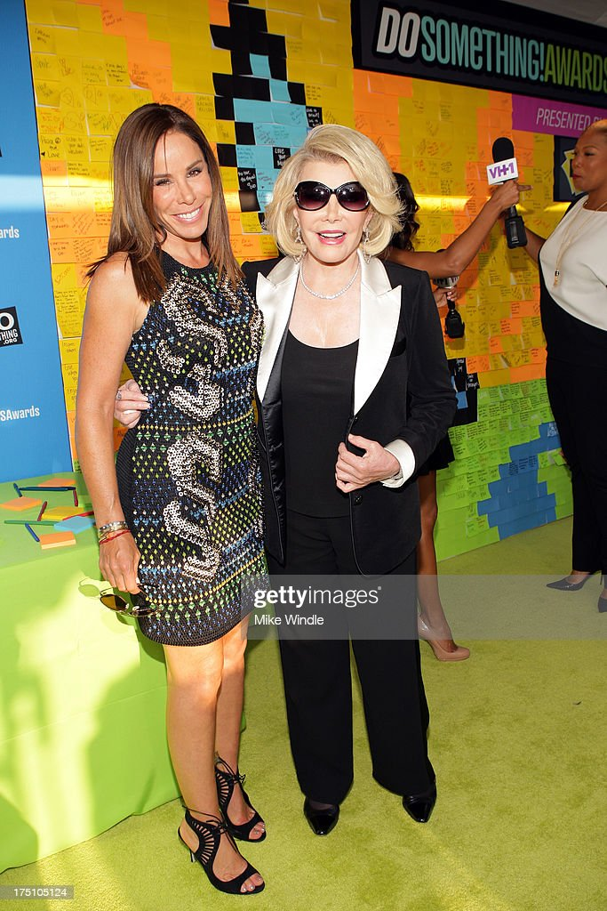 Television Personalities <a gi-track='captionPersonalityLinkClicked' href=/galleries/search?phrase=Melissa+Rivers&family=editorial&specificpeople=204230 ng-click='$event.stopPropagation()'>Melissa Rivers</a> and <a gi-track='captionPersonalityLinkClicked' href=/galleries/search?phrase=Joan+Rivers&family=editorial&specificpeople=159403 ng-click='$event.stopPropagation()'>Joan Rivers</a> launch Post-it Brand Dreams for Good Contest at the DoSomething.org and VH1's 2013 Do Something Awards at Avalon on July 31, 2013 in Hollywood, California.